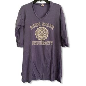 1980s purple Penn State University shirt dress